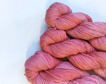 4ply Superwash Merino/Cotton - Rosebud