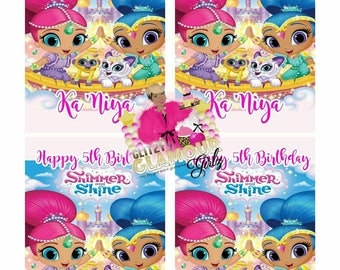 Shimmer and Shine capri sun juice labels for your next party-DIGITAL FILE ONLY