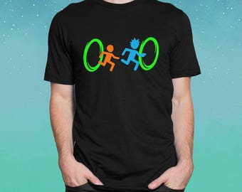 Funny Rick And Morty Portal Inspired T-Shirt / Rick and Morty Portal / Rick And Morty Inspired Gifts / Funny T-Shirts Rick And Morty /