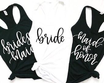Bride Bridesmaid Maid of Honor • Ladies Tank • Wedding Tanks