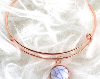 Marble : Rose Gold Bangle