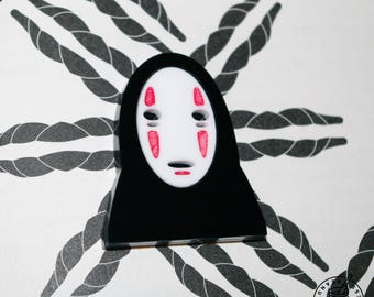 No Face - pin badge / magnet, studio ghibli, spirited away, mask