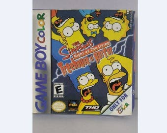 Simpsons night of the living treehouse of horror nintendo game boy color game