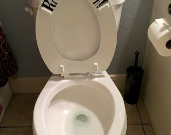 Items Similar To Vintage Lucite Resin Toilet Seat Clear
