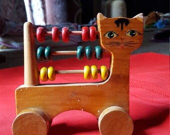 Vintage Abacus Counting Toy