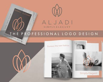 Custom logo design,Elegant logo,Monogram logo,Custom logo,Rose gold logo,Minimal Logo,Unique logo design,Geometric logo,Professional logo