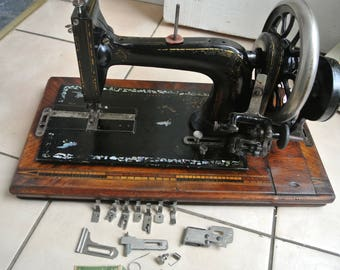 Frister & Rossmann Antique/Vintage sewing Machine With attachments/Accessories