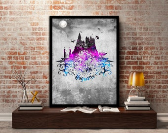 Hogwarts,Crest, Print, Poster, Gryffindor, Harry Potter, Magic, Ravenclaw, Witch, Wizard,Quidditch, Gift,Gift for her, Birthday,