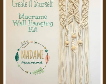macrame wall hanging kit diy macrame wall hanging material kit with knot guide 5068