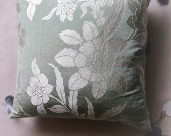 """Pillow silk and linen washed """"Valère"""" 48 x 48, sale at-30%"""