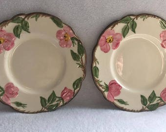 "2 Vintage Franciscan Desert Rose 6"" Bread and Butter Plate"