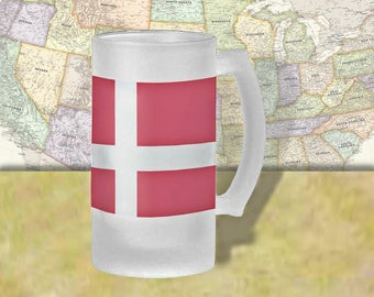Norway Flag Beer Mug, Beer Stein, Country Flag, Country Pride, Beer Glass, 16 oz., Frosted Mug, Beer Thinkers, Beer Lovers, Cold Beer