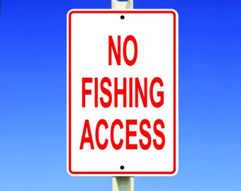 Fishing Aluminum Sign