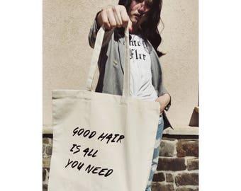 Good hair tote bag