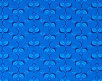 END OF BOLT - 1.5 Yards - Fancy Admiral's Blue Garni Yardage by Lily Ashbury for Moda Fabrics  - 100 % cotton - Quilting