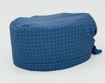 Surgical cap-Surgical cap-Fantasia blue tie Avio-Grey