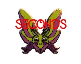 SECONDS - Sugar Maple Moth Hard Enamel Pin