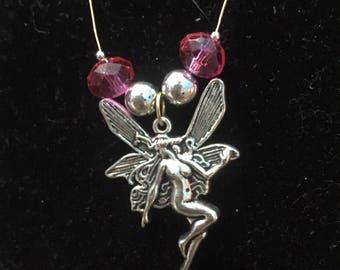 Pink fairy pendant