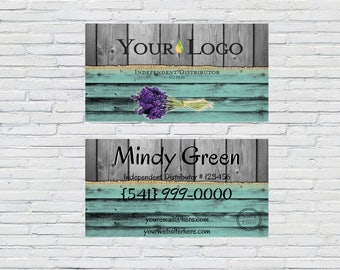 Turquoise/Natural Wood Business Card Design, Small Business, Blogger, Independent Distributor, Printable, Digital File, Download, Business