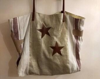 Bag style pomponette linen