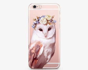 Owl iPhone 8 Plus Case iPhone X Case iPhone 7 Plus Case iPhone 6s Case Samsung S8 Case Samsung S7 Case Clear Case Google Pixel Case AC1169