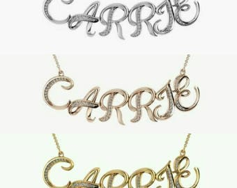My name necklace with Swarovski Crystals