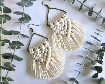 SPARROW // Macrame Earrings, Macrame Jewelry