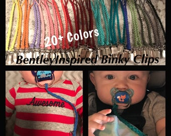 Braided Binky Clips