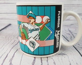 Vintage Florida Marlins Baseball Mug Coffee Cup Novelty Retro Decor Break Time Tea Hot Beverages Gift Farmhouse 1993 Sports Impression Korea