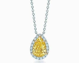 Fancy Yellow Pear Diamond