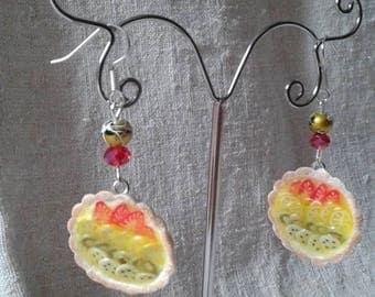 """""""fruit pie"""" earrings"""