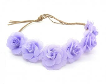 "headband ""wreath of purple flowers"""