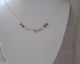"""pretty Bird on a silver branch"" necklace"