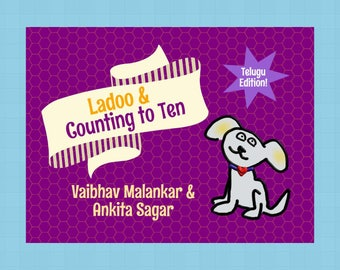 Telugu Edition | LadooBook: Counting to Ten! Introduce Telugu to your kids with this great children's book!