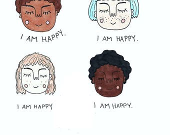 I Am Happy print