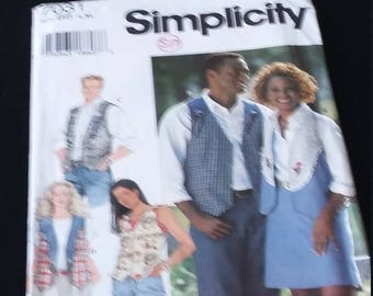 Simplicity 7031 Sizes Large and XL Men or Women