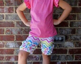 Girls icing Ruffle shorts