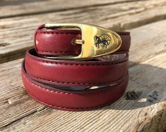 Leather Horse Carriage Buckle Vintage Belt