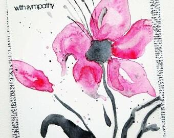 Sympathy card, sympathy, condolence card, bereavement card, sympathy cards, condolences card, with sympathy card, grieving card, in sympathy