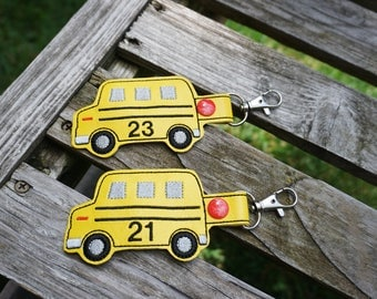 School bus driver gift personalized favors key fob