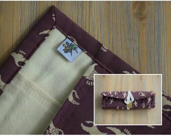"8 slot kimono silk and cotton penroll ""Bird Flock"""