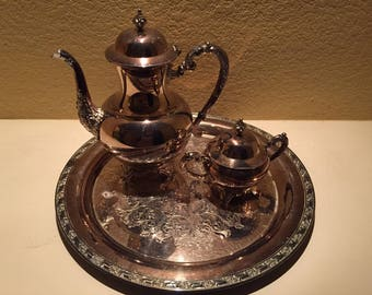 WM Rogers 3 Piece Tea/Coffee Set
