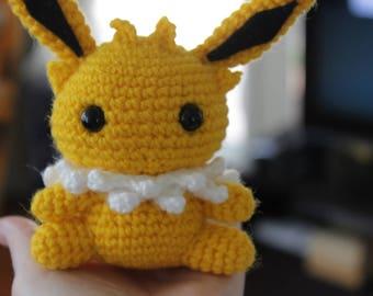 Jolteon Pokemon Crochet Amigurumi Plushie