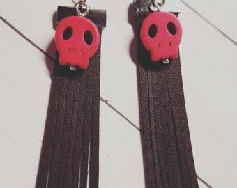 Pink Skulls with Fringe