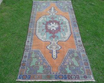 Oushak Rug, Turkish Rug, Pastel Oushak Rug, Turkish Oushak Rug, Vintage Carpet, Oushak Carpet, Pastel Rug