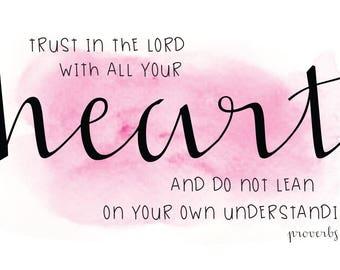 Proverbs 3:5 Digital Download