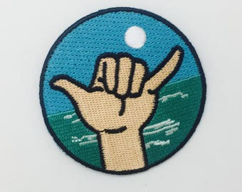 Hang Loose Surf iron on patch