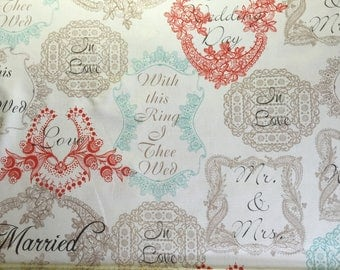 Mr & Mrs sorbet Michael Miller CX 5260 kids patchwork fabric