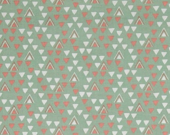 fat quarter fabric patchwork green child Little ones Triangles Fabric Editions