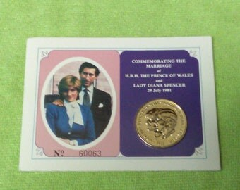 1981 Princess Diana Marriage Coin. Limited Edition 70%OFF